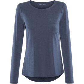 Prana Foundation LS Crew Neck Top Women Equinox Blue Heather